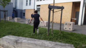 Parkour UGA - spot du 9 avril