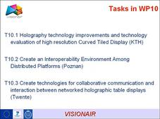 VISIONAIR : Advanced Technology For Visualization and Interaction